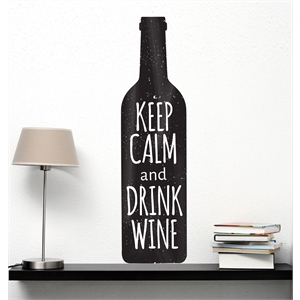 KEEP CALM AND DRINK WINE M - 23X85CM