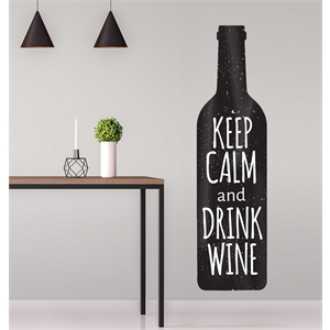 KEEP CALM AND DRINK WINE G - 45X170CM