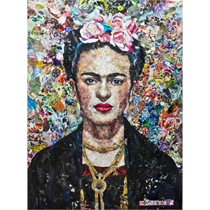 Placa Frida Kahlo Paint Color