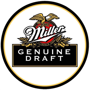 Placa Miller Genuine Draft Metalizada