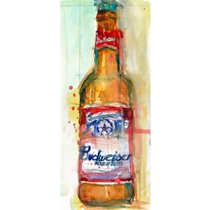 Placa Budweiser Beer