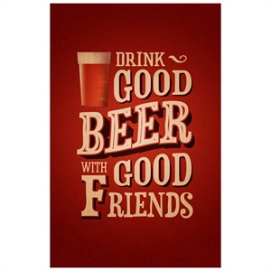 Placa Drink Good Beer Friends