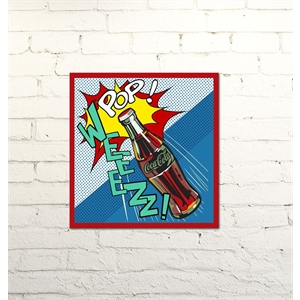 Placa Decorativa Coca-cola art pop weeezz