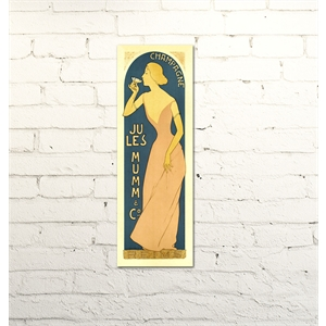 Placa Champagne Lady vintage