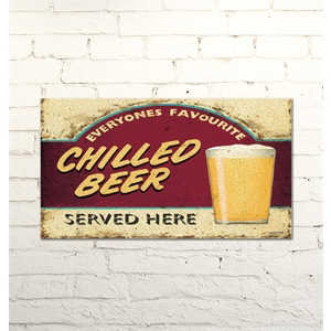 Placa Decorativa Chilled Beer 20 x 15cm